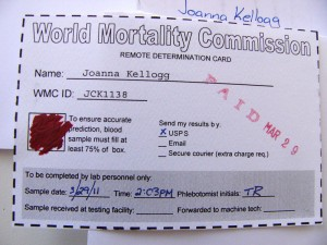 Your communication has been received by the World Mortality Commission.