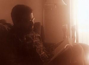 M. Bennardo reads a book unpretentiously